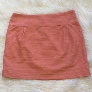 Loft Peach Tweed Mini Skirt
